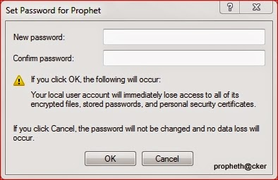 Set New Password in your Window 7 wiithout knowing old password