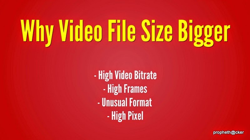 why video file size is bigger