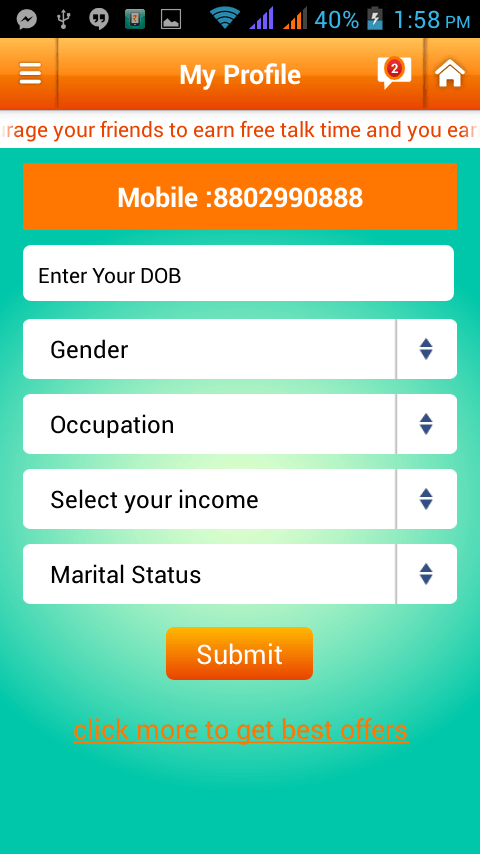 earn talktime android app