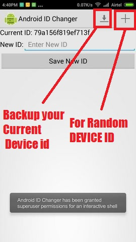 change android device id apk