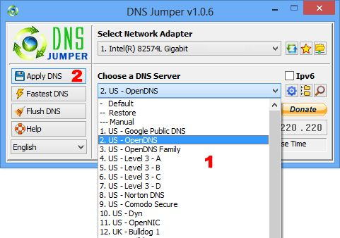 DNS Jumper for fast DNS