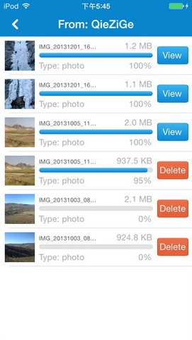 Share file to Other Phone up to 5MB/Sec