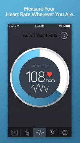 Check your Current Heart Beat Rate iPhone