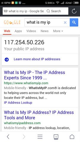 Android Mobile Ip Address