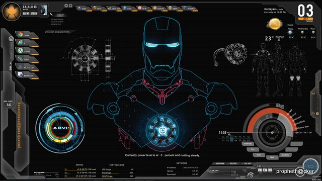 Iron-Man-Rainmeter-Skin