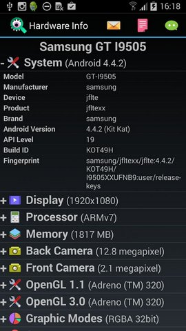 Hardware Info Android App