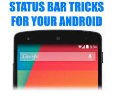 Android Mobile Status Bar Tricks