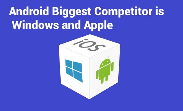 Android Biggest Competitor is Windows and Apple