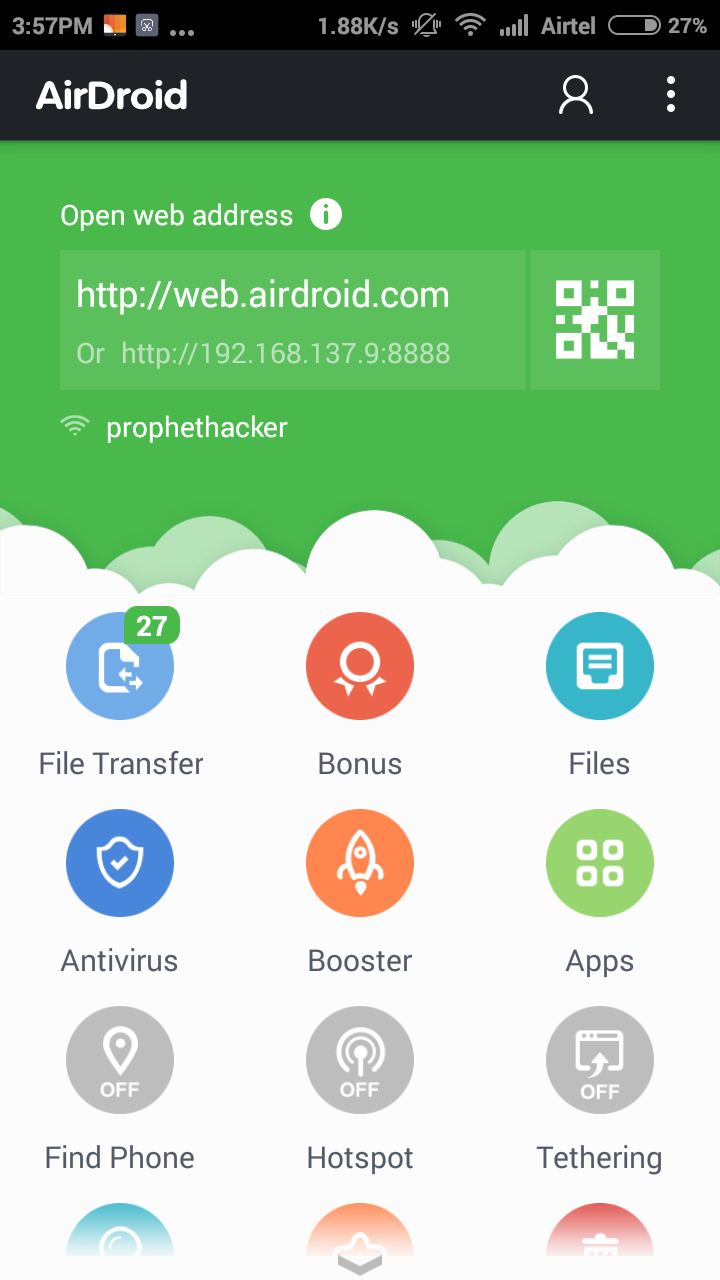 Airdroid 3 Mirror Android Screen to PC