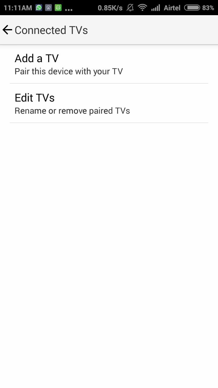 Youtube Android App Connected TV Settings