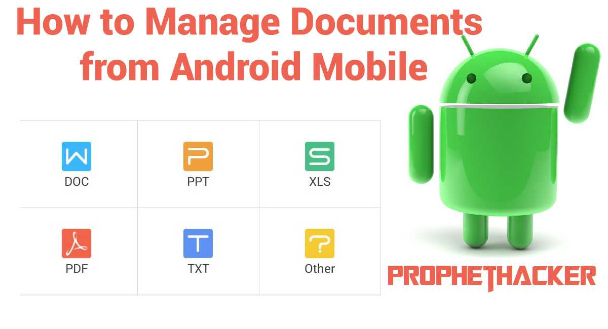 How to Manage Documents from Android Mobile