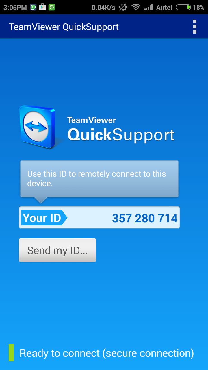 Teamviewer Quicksupprt Android app