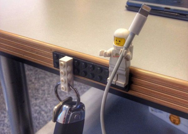 Make Stylish Cable Holders Using Lego Figures