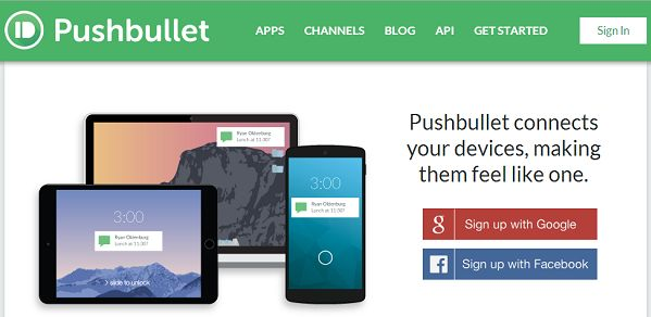 Pushbullet Send Notifications from Mobile to PC