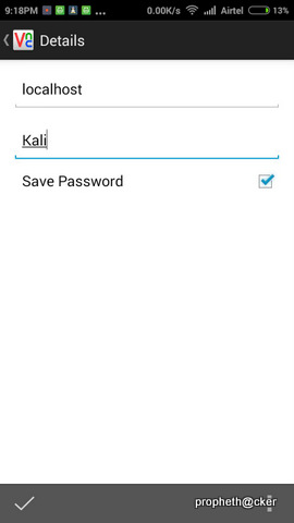VNC Viewer for Running Kali Linux in Android