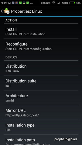 Kali Linux Distribution for Android Mobile