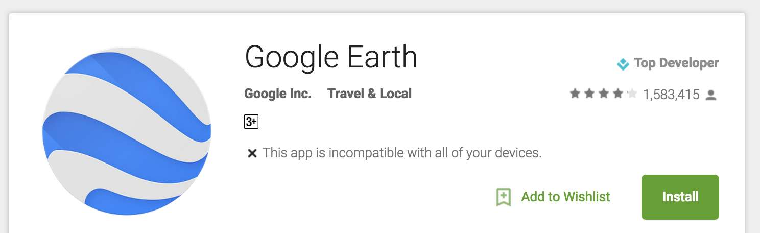 Incompatible Android Apps