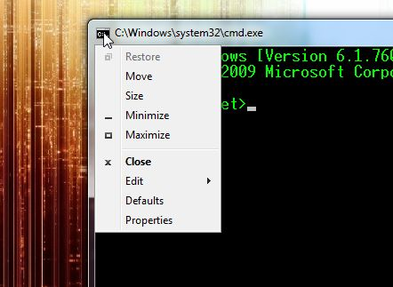 Command Prompt Settings