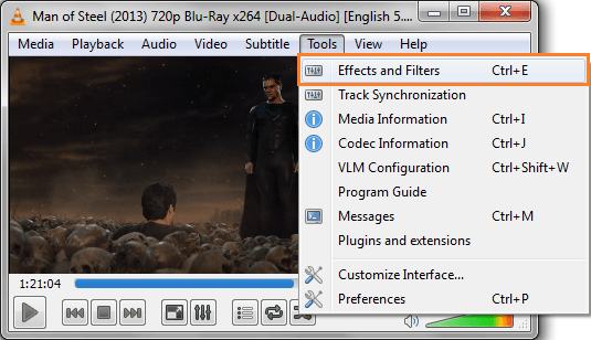 Effects and Filters in VLC Media Player