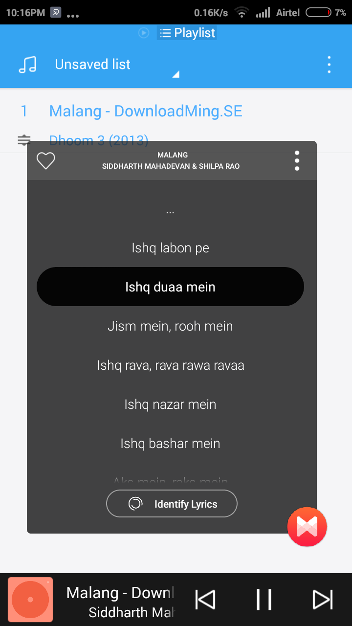 Find Lyrics for Your Phone with Musixmatch