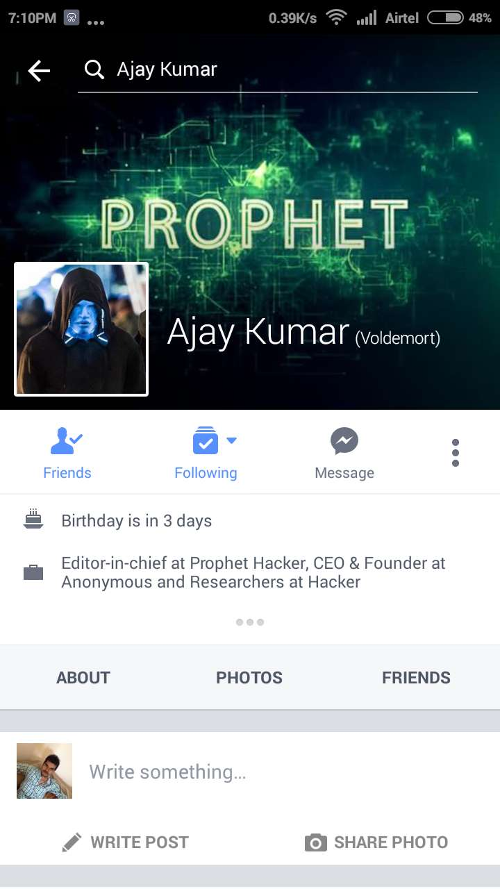 Report Facebook Profile