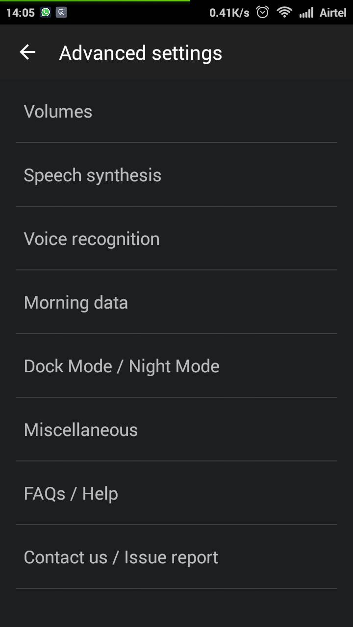 Wake Voice Alarm Clock Settings