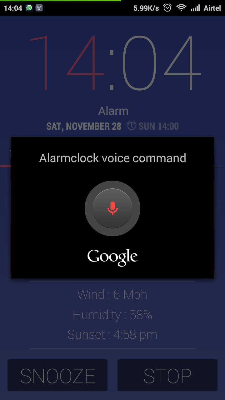 Just Say Stop for Stopping Phone Alarm Clock