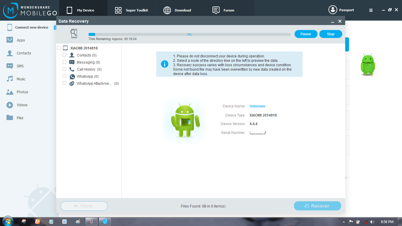 Recover Data from Android Phone