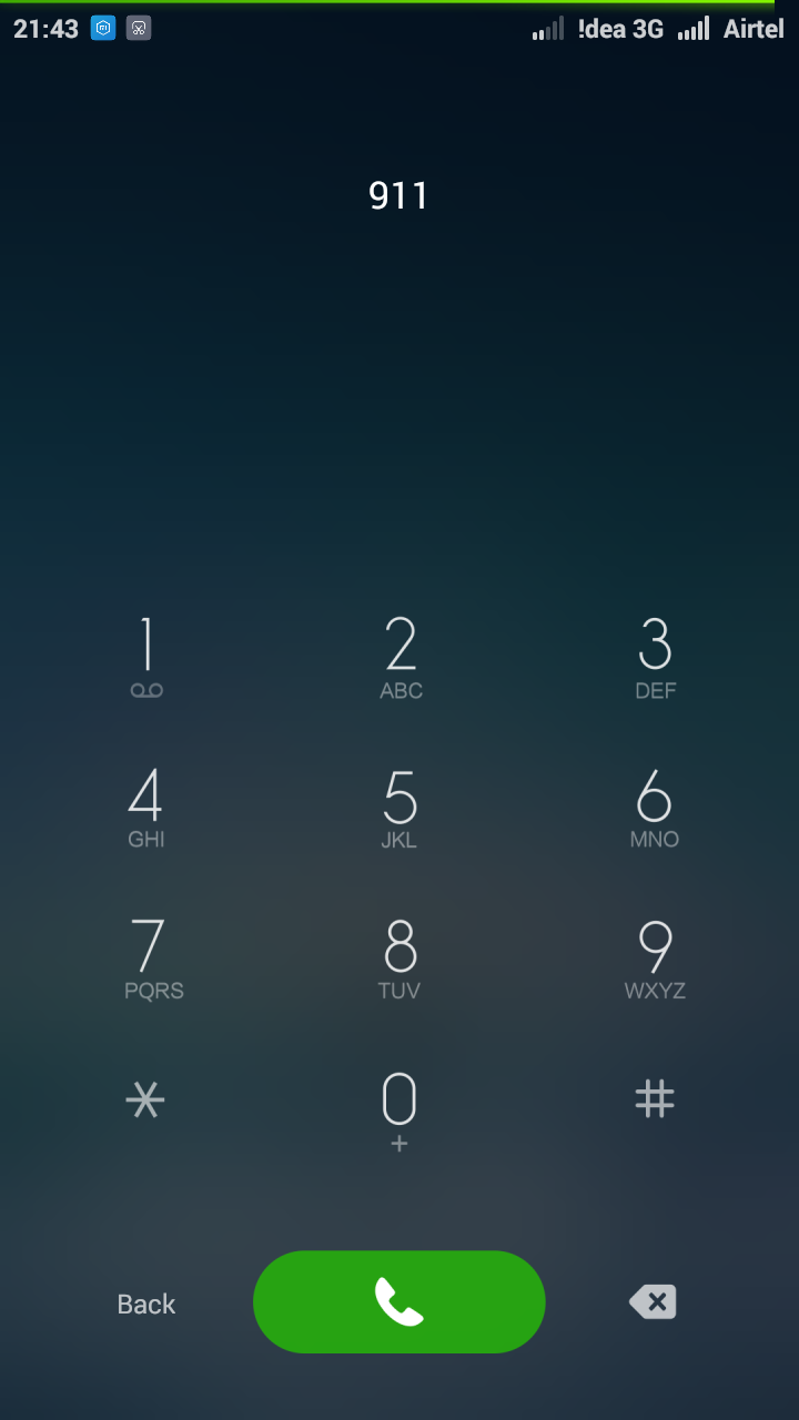 Emegency Call Button in Android Mobile