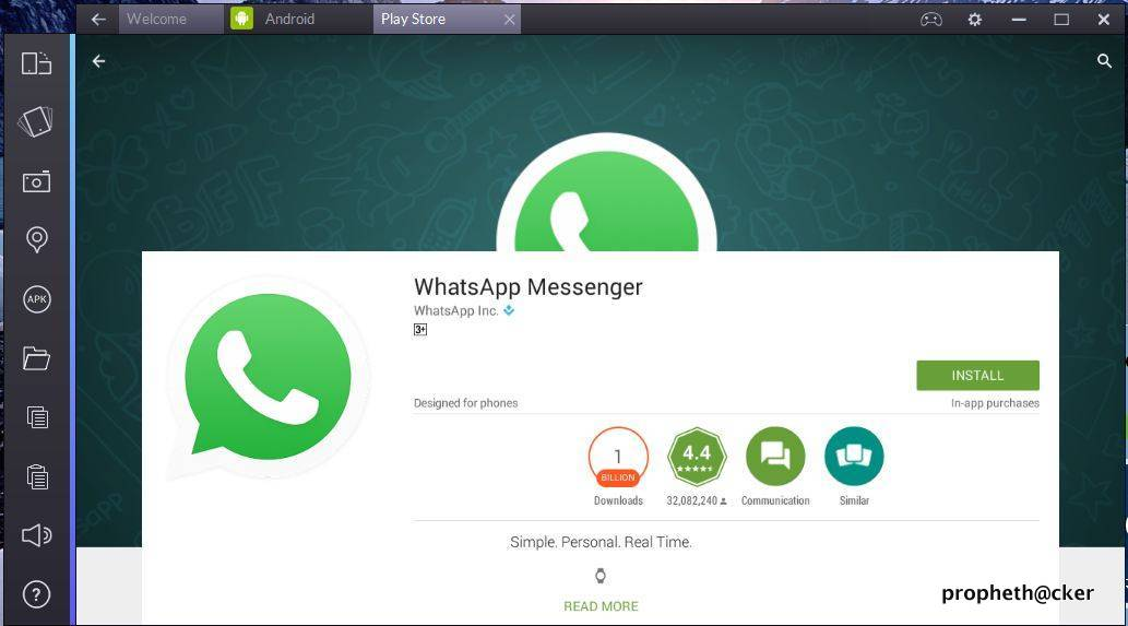 Run Whatsapp in PC from Bluestacks