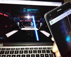 Lightsbar Game on Mobile by Google Chrome