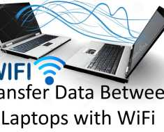Share Data Between Two Laptops UsiNG wifI