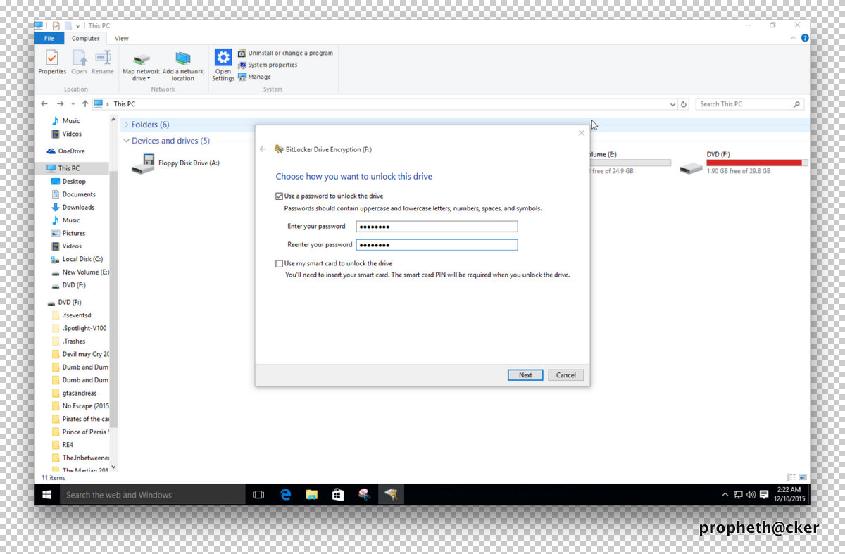 Window Bitlocker Drive Encryption