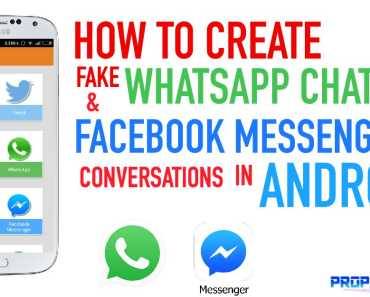 How to Create Fake Whatsapp and FB Messenger Conversations in Android