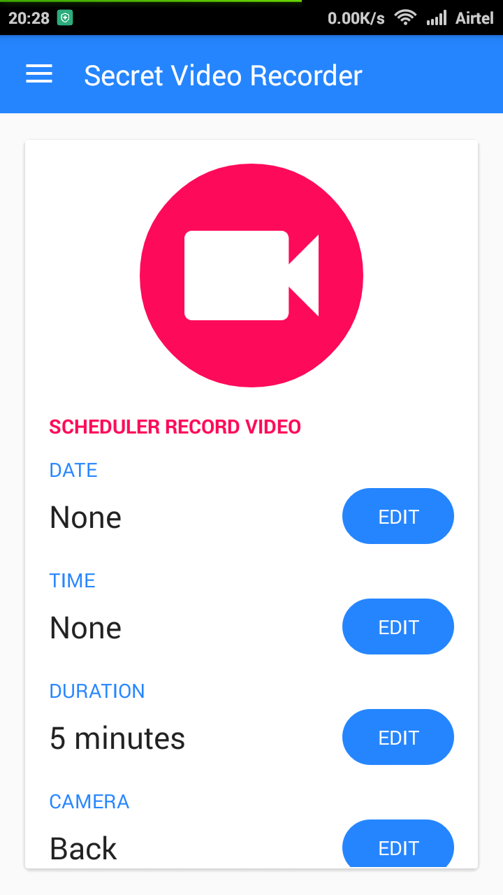 Secret Video Recorder App