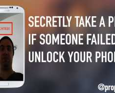 How to Secretly Take a Photo If Someone Failed to Unlock your Phone
