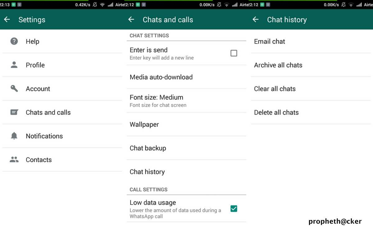 Clear and Delete All Whatsapp Chats