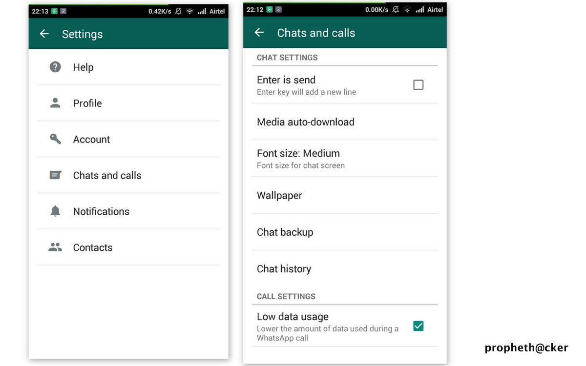 Low Data Usage in Whatsapp