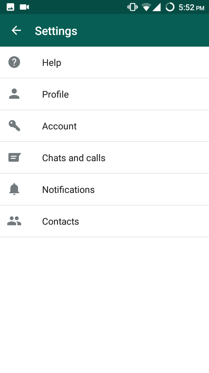 Chats and Calls Settings in Android Mobile