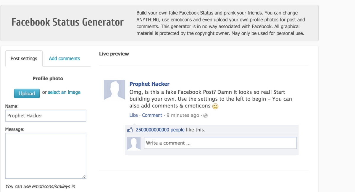 create-fake-facebook-post