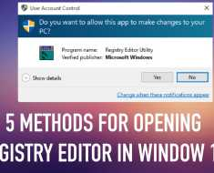 5 Methods To Open Registry Editor In Windows 10