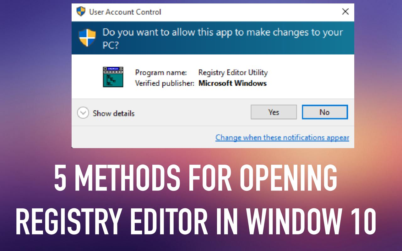 How to open the registry in Windows