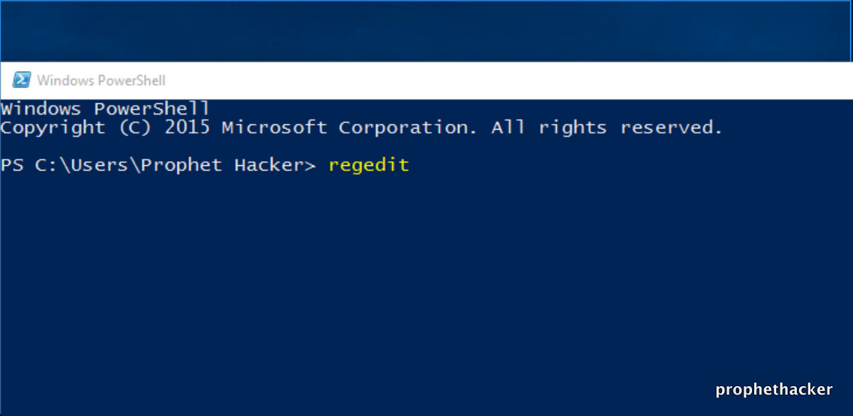 5 Methods To Open Registry Editor In Windows 10 from Powershell