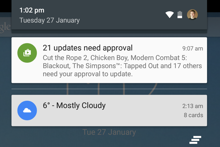how to make notification appear on screen