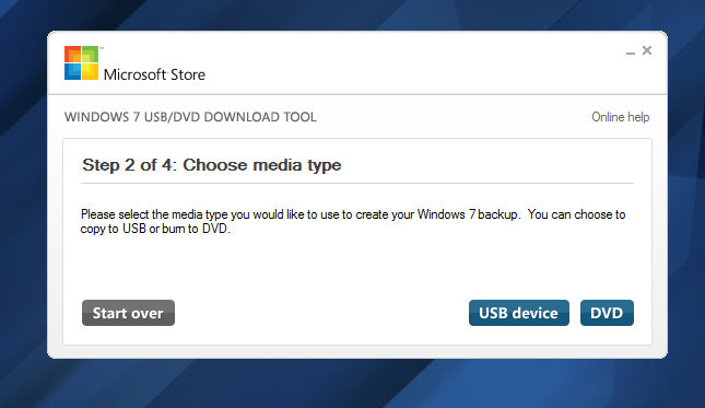 Window 7 USB Download Tool for Creating Bootable Window Pendrive