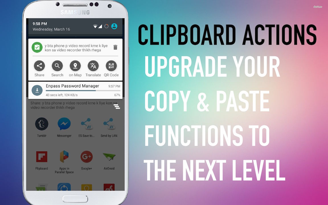 Electronic Clipboard Android Phone clipboard actions jpg app can upgrade copy paste functions to the next level