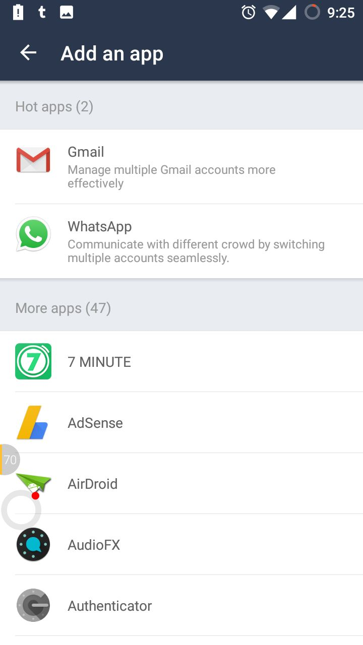 Add Android Apps in Parallel Space