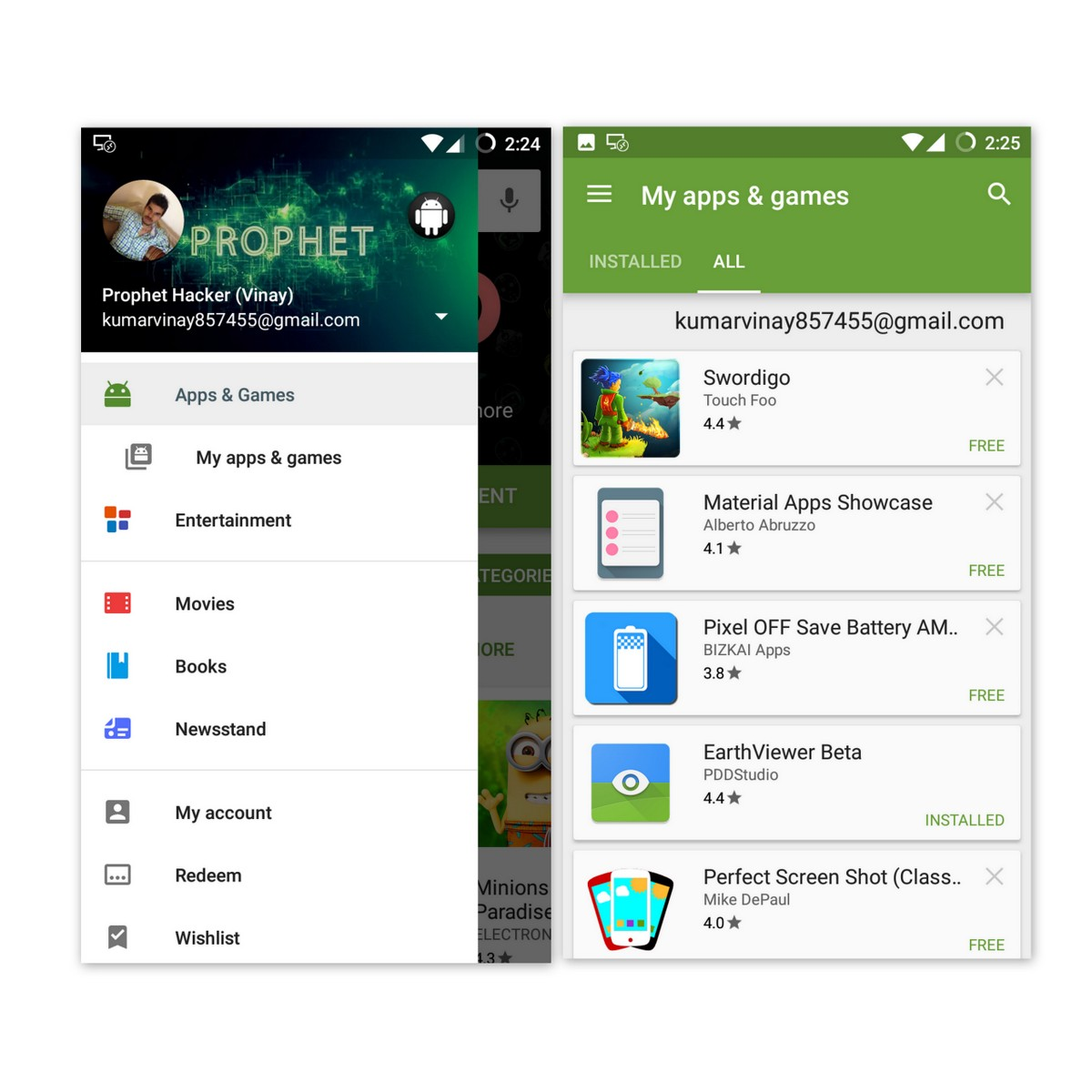 how to search for all apps on android