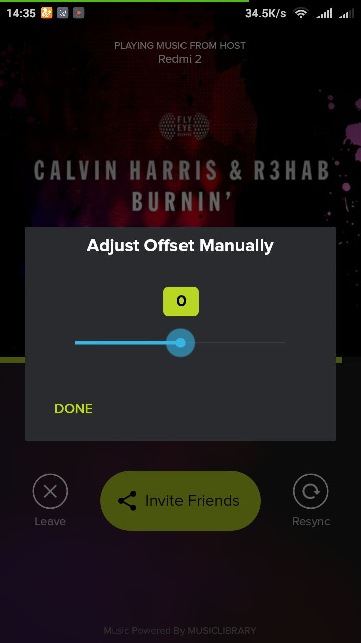 Sync Two Devices in AmpMe Android App