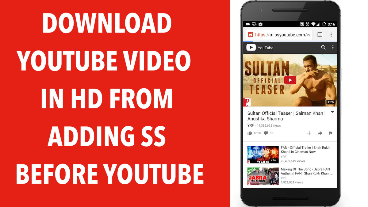 How to Download Youtube Videos from adding SS before Youtube